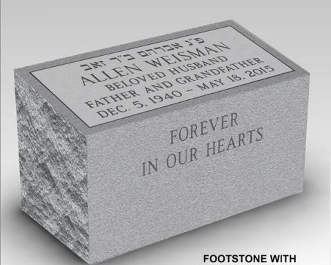 Beveled Foot Marker w/ Steeled Font Face